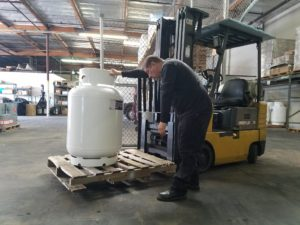adhesive solutions products in the warehouse